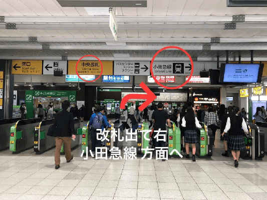 JR線町田駅「中央改札」を出て右折してください。