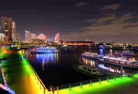 横浜の綺麗なイルミネーションが楽しめます