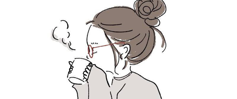 眼鏡女性の絵