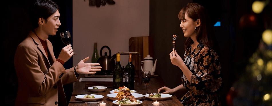 高級レストランでデートするイメージ