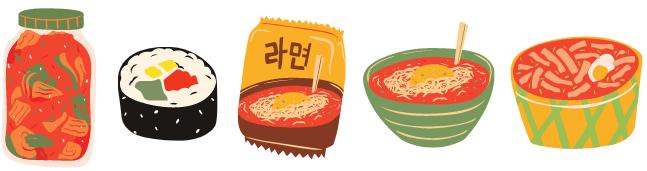 韓国料理でディナーパーティー