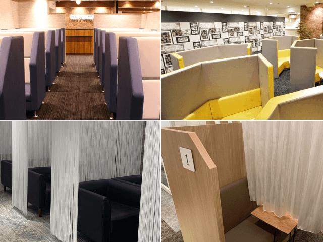 会場によって異なる個性豊かな個室スタイル